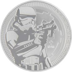 Niue 2018 Stormtrooper - 1OZ Silver Coin - Brand New!