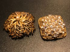 2x rare Signed Sphinx Brooches