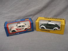 Tomica Dandy - Scale 1/43 - VW Volkswagen Beetle 1200LE Racing Team, No.F30 and POLIZEI VW Volkswagen Beetle 1200LE, No.F21