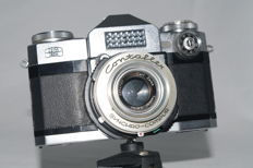 Contaflex Super serial no. X52079 with Carl Zeiss Tessar 2.8/ 50mm (1959)