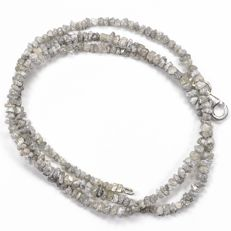 23.50 ct Bracelet or Necklace with MILKY White  Rough Diamonds - 16 inches