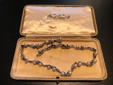 Very Rare fully signed Ciro boxed pearl and crystal necklace
