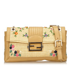 Fendi - Floral Chain Baguette Shoulder bag