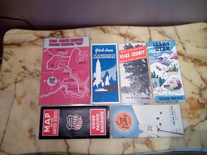 6 old advertising brochures - Tourism - U.S.A.