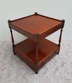 Mahogany side-table with drawer, second half of 20th century