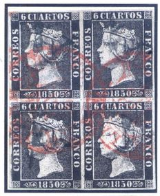 Spain 1850/1869 - Isabel II. Collection of Mixed Cancellations mount on 80 sheets for exhibition.