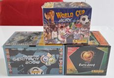 Panini - Worldcup Story 1990 + Euro 2004 + WC 2006 - 3 boxes in original seal
