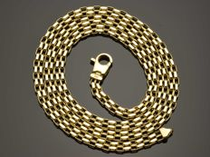 "18k Gold Necklace. Chain ""Parallel"" - 50 cm. Weight 8.37 g. No reserve price."