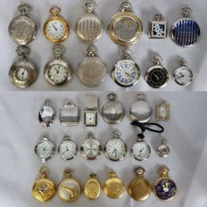 Collection of 30 replicas of antique pocket watches