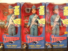 Thunderbirds Talking action figures,  Scott, Virgil and Alan Tracy