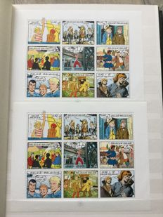 Belgium 1991/2001 - Collection stamps and blocks in two stock books.