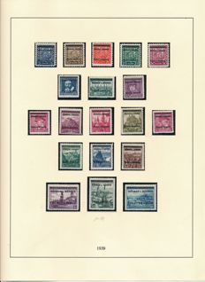 German occupation issues, 2nd World War - 1939-1945 - complete collection with Generalgouvernement, Bohemia and Moravia, Luxembourg and many more.