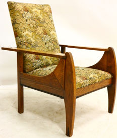 Amsterdam School Liberty armchair with exclusive rosewood