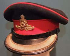 WWII British Officers Peaked Hat Royal Artillery