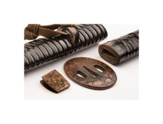 Wakizashi koshirae with NBTHK Tokubetsu Kichio - All elements from one set - Japan - Edo Period