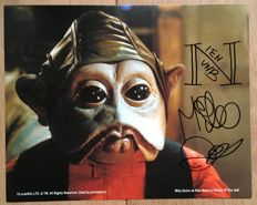Star Wars - Nien Nunb photo from Return of the Jedi signed by puppeteer Mike Quinn