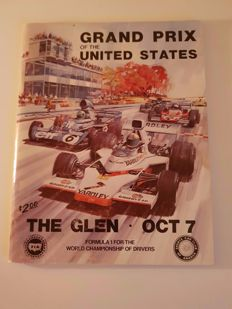 Francois Cevert (RIP) - hand signed Program GP USA (Watkins Glen) oct. 7th 1973. Extreme rare because he died on track on oct. 6th