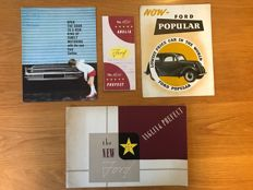 (4) Ford  Cars  Brochures Cortina Anglia, popular