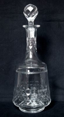 Baccarat crystal wine decanter, Chauny model with , France, early 20th century,