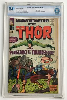 Marvel Comics - Journey Into Mystery / Thor #115 - CBCS 5.0 graded - 1x sc - (1965)