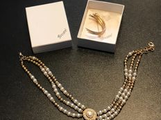 Vintage Grossé signed very rare necklace and brooch boxed