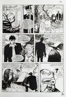 Mari, Nicola - original plate for Dylan Dog