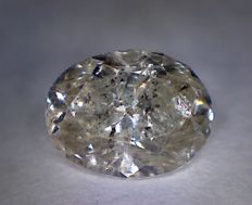 Diamond - 1.50 ct - Oval cut - K I2