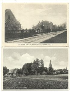 Lot with 126x cards, Dutch towns and villages