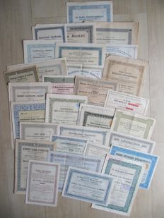 Dutch East Indies - 30 stocks and bonds