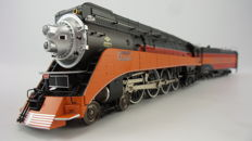 MTH Electric Trains H0 - 20-80008L - Steam locomotive with towed tender 4-8-4 GS-4 of the Southern Pacific