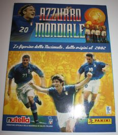 Panini - Azzurro Mondiale - 2002 - Complete album - History Italian national football team World Cup football - Edition in collaboration with Nutella
