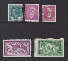 France 1927/1932 - 3 different sets - Yvert n° 240, 269 and 291/293