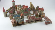 Vollmer/Faller/Kibri N - Scenery - 30-piece set Timbered houses with city wall, among other with station and signal box