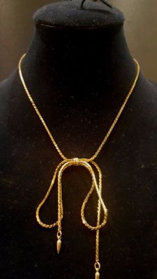 NAPIER gold toned  bow Necklace