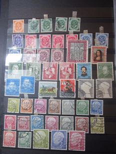 Germany 1951/2006 - Collection of stamps cancelled on sheets and booklets, in two stock books.