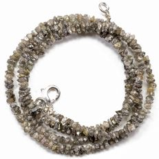 23.60 ct Bracelet or Necklace with light Brown Beach Sand Shde color Rough Diamonds