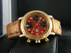 MAURICE LACROIX - CRONEO - Red Dial, 18 kt Gold, Limited edition