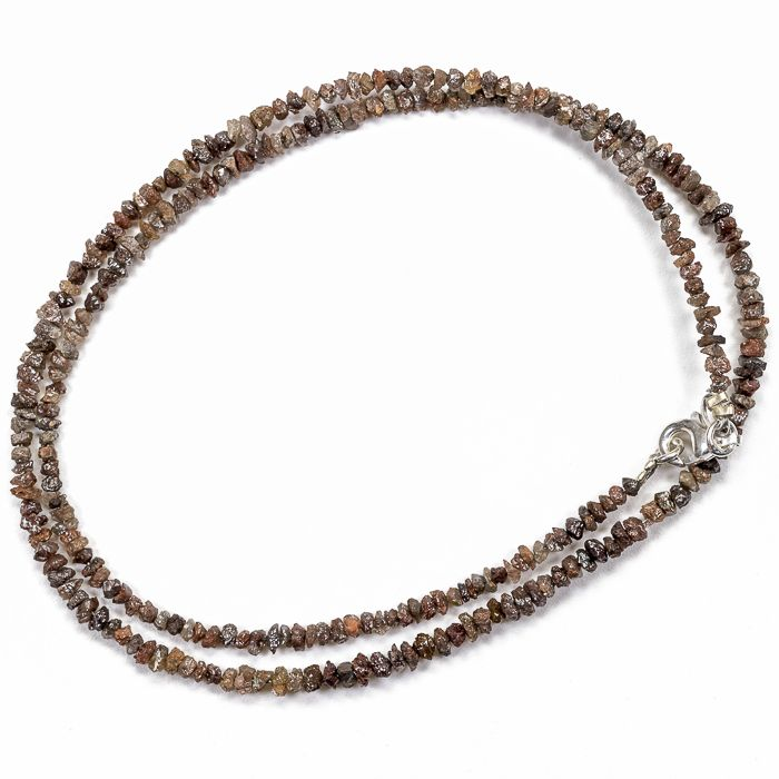 23.50 ct Bracelet or Necklace with Reddish Brown color Rough Diamonds