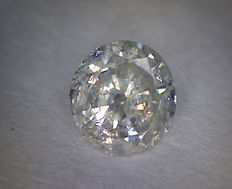 0.42 ct brilliant cut diamond, F I2.