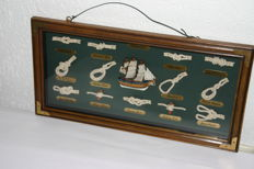"Framed knots display case ""Endeavour"""