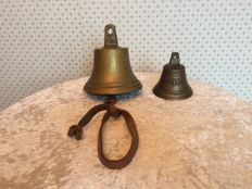 2 brass ship's bells The Netherlands, first half of the 20th century