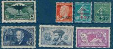 France – Selection of stamps – Between Yvert 170 and 986.