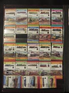 Trains and Railways - Topical collection in seven stock books