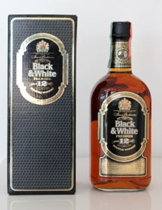 Black & White Premium – 12 years old Production of scotland - bottled in the 1990s