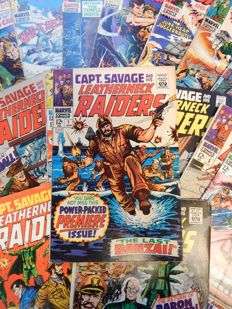 Marvel Comics - Captain Savage and His Leatherneck Raiders # 1 - 16 + 18 + 19 - 18x sc - (1968-1970)