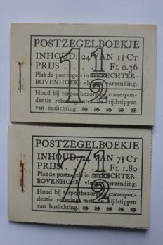 The Netherlands 1935/1942 - Two stamp booklets - PZ22d-N and PZ51-N