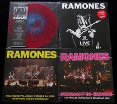 The Ramones - Great lot of 4LP's, including 3 limited editions of which one on coloured SPLATTER vinyl!