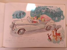 Hans Liska Mercedes Benz sketch book