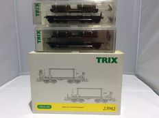 Trix H0 - 23982, 24062 (2x) - 4 pieces freight cars (2396)
