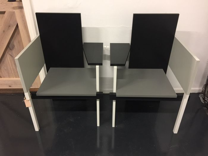 Gerrit Rietveld by Rietveld - 2x Berlin chair